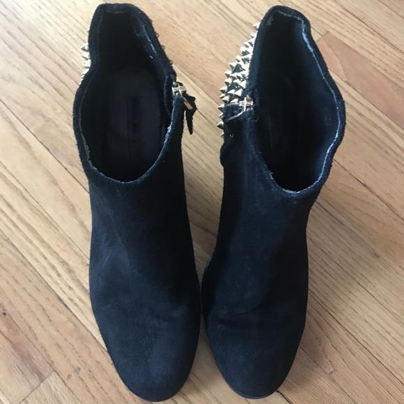 Zara Black Studded Boots Fall Winter 22